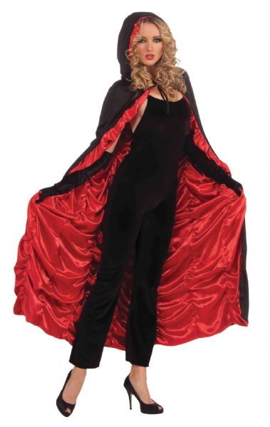 Adults Coffin Cape Costume for Halloween Vampire Dracula Party Fancy Dress